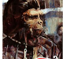 Caesar: Planet of The Apes Trading card by Graham Hill