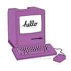 Purple 1984 Macintosh by nealcampbell