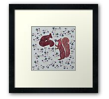 Squirrely Love Framed Print