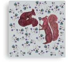 Squirrely Love Canvas Print