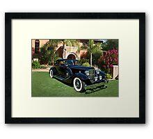 1930 Packard Twelve Custom Dietrich Coupe Framed Print