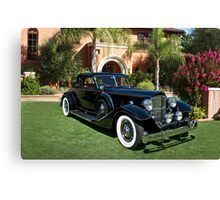 1930 Packard Twelve Custom Dietrich Coupe Canvas Print