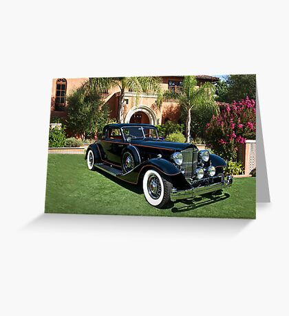 1930 Packard Twelve Custom Dietrich Coupe Greeting Card