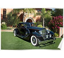 1930 Packard Twelve Custom Dietrich Coupe Poster