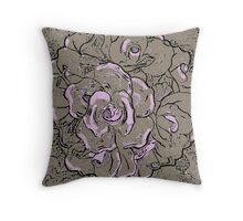 Taupe and Pink  Throw Pillow