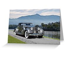 1934 Packard Coupe Greeting Card