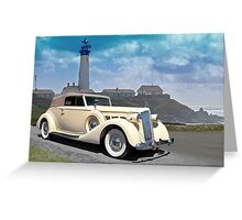 1935 Packard, Victoria Convertible Coupe Greeting Card