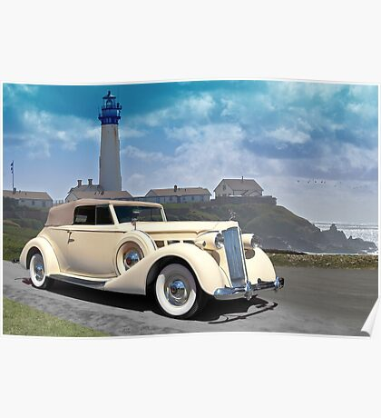 1935 Packard, Victoria Convertible Coupe Poster