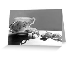 Tea and Roses Still Life Greeting Card