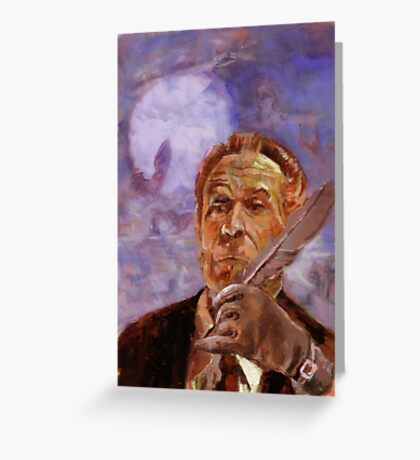 Vincent Price Presents volume Four cover Greeting Card