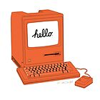 Orange 1984 Macintosh by nealcampbell