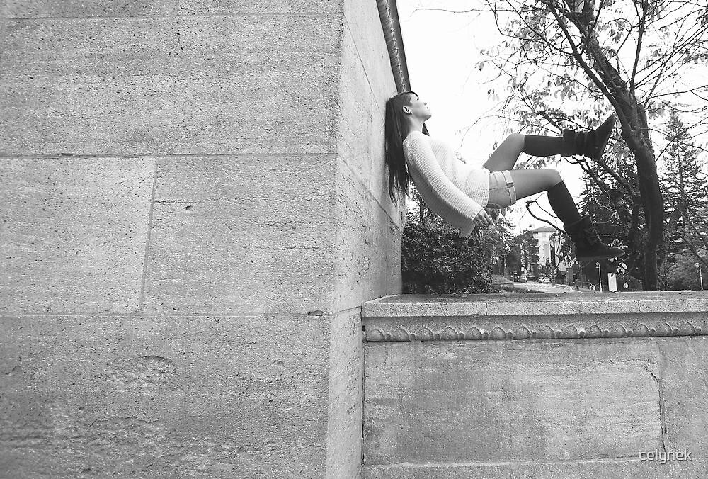 Girl in levitation by celynek