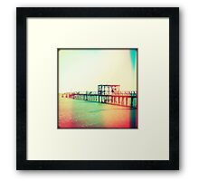 Fishing Pier II Framed Print