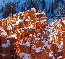Snow Capped Hoodoos  by James Marvin Phelps