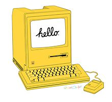 Yellow 1984 Macintosh by nealcampbell