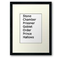 Harry Potter in Short Framed Print