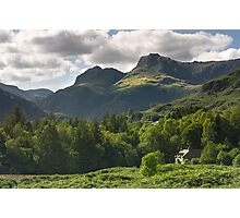 Langdale Pikes Photographic Print