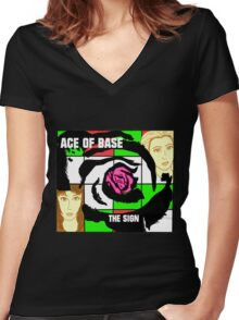 The Sign cover tribute Women's Fitted V-Neck T-Shirt