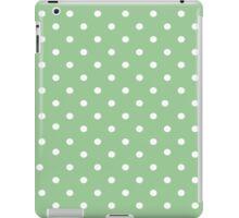 Pale green polkadot ipad case iPad Case/Skin