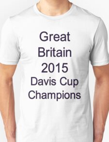 Great Britain - 2015 Davis Cup Champions T-Shirt