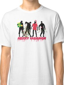 Funny Zombies decorating Christmas tree Classic T-Shirt