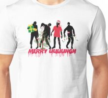 Funny Zombies decorating Christmas tree Unisex T-Shirt