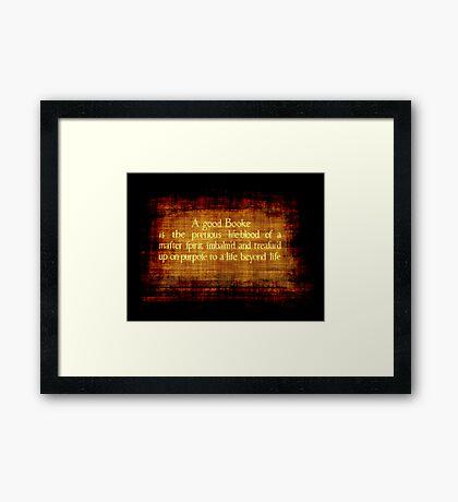 A Good Booke #2 Framed Print