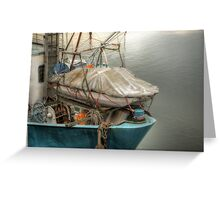 boats in harbor Greeting Card