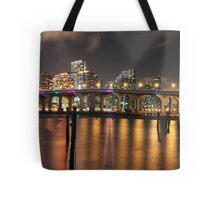 High Resolution - Miami Skyline Tote Bag