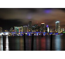 Miami Skyline and Port Boulevard Bridge - High Resolution Photographic Print