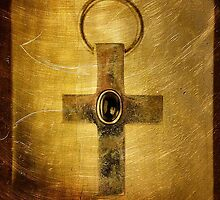 Golden cross by Gun Legler