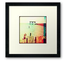 Fishing Pier I Framed Print