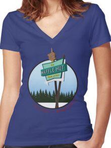 Waffle Hut - Luverne, Minnesota (FARGO) Women's Fitted V-Neck T-Shirt