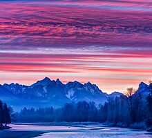 Skykomish River Sunrise by Jim Stiles