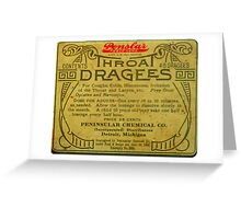Vintage Detroit Throat Dragees Tin Cover ca. 1910 Greeting Card