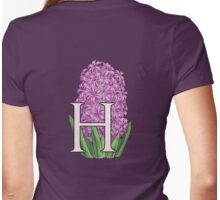 H is for Hyacinth - full image Womens Fitted T-Shirt