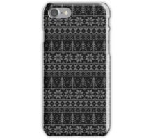 Nordic Holiday Sweater Print (Black) iPhone Case/Skin