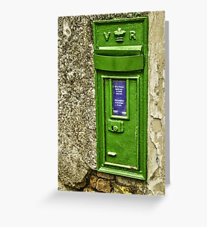 Old postbox. Greeting Card