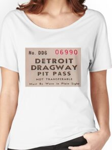 Vintage Detroit Dragway Pit Pas ca. 1965 Women's Relaxed Fit T-Shirt
