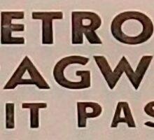 Vintage Detroit Dragway Pit Pas ca. 1965 Sticker