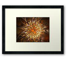 Golden Be Dazzle Framed Print