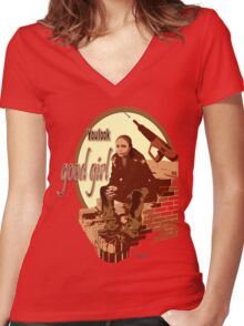 """Snoop's Tee (""""The Wire"""") Women's Fitted V-Neck T-Shirt"""