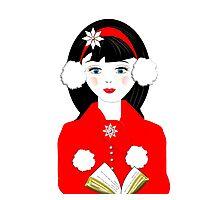 Pretty Christmas Carol Singer Photographic Print