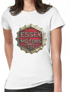 Vintage Detroit Essex Motors Badge Womens Fitted T-Shirt