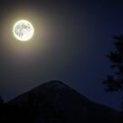 Moon Over Livingston Peak by Jason Thomas