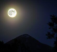 Moon Over Livingston Peak by Jason Thomas