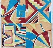 Deco Screenprint by Helen Carmichael