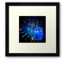 TARDIS STONEHENGE PORTAL Framed Print