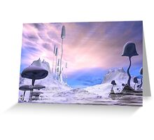 Frozen Alien Landscape Greeting Card