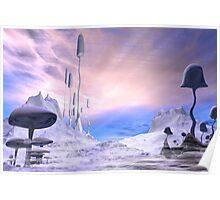 Frozen Alien Landscape Poster